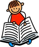 Lectura del niño pequeño ilustración del vector