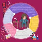 Lectura Infographic Imagenes de archivo