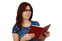 Lectura ocasional del estudiante Foto de archivo