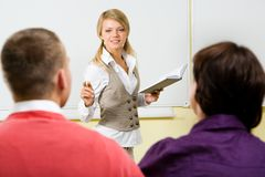 During lecture Royalty Free Stock Images