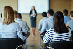 Lecture for business people Stock Photos