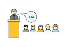 Lecture Concept Vector Illustration In Flat Style Royalty Free Stock Photos