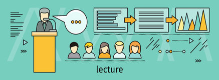 Lecture Concept Vector Illustration In Flat Style Stock Photo