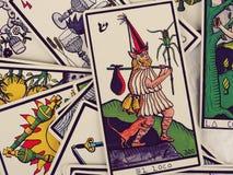 Lecture de cartes de tarot Photographie stock libre de droits