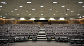 Lecture Hall. An empty lecture hall with a large amount of seats Royalty Free Stock Images