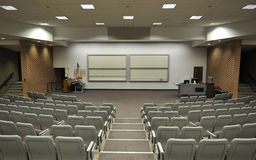 Lecture Hall. An empty lecture hall with a large amount of seats Stock Photo
