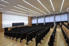 Lecture hall. On Zagreb University royalty free stock photography