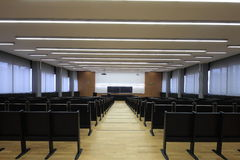 Lecture hall. On Zagreb University stock image