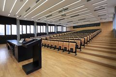 Lecture hall. On Zagreb University Stock Photos
