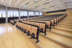 Lecture hall. On Zagreb University stock photo