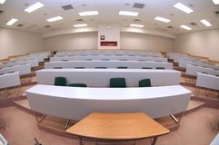 Lecture hall. Through a fisheye Royalty Free Stock Image