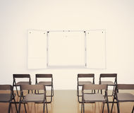 Lecture hall. In empty lecture hall iterior Royalty Free Stock Images