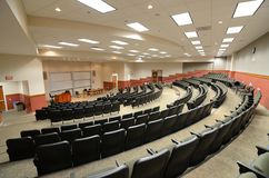 Lecture Hall. Interior of a college lecture hall Royalty Free Stock Photo