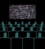 Lecture hall. In cinema people sit on armchairs. Presentation. Lecture hall. In cinema people sit on armchairs. Presentation Stock Images