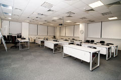 Lecture Hall. Empty classroom with chair and board Royalty Free Stock Photo