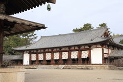 Lecture hall of Horyu ji in Nara Stock Photo