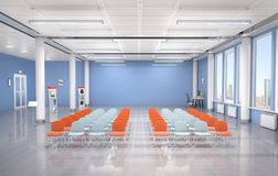 Lecture hall interior. 3d. Illustration Stock Photos