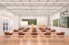 Lecture hall interior. 3d. Illustration Stock Photography