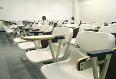 Lecture Hall Seating. View of a classroom Royalty Free Stock Photos