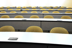 Lecture hall seats Stock Photo