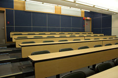 Lecture hall in university. Rows of seats in a university college lecture hall Stock Image