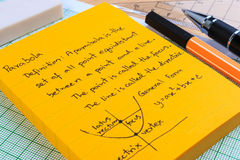 Lecture Notes in Mathematics. Royalty Free Stock Photography