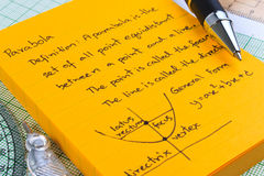 Lecture Notes in Mathematics. Royalty Free Stock Images
