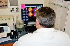 Lecture nucléaire d'examen d'effort de cardiologie de médecine images stock