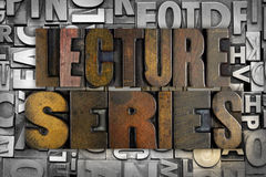 Lecture Series Royalty Free Stock Photo