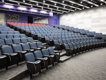 Lecture Theater. Interior of a contemporary lecture theater in university campus Stock Photo