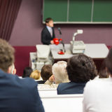 Lecture at university. Royalty Free Stock Photo