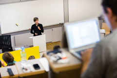 Lecture at university. Stock Images