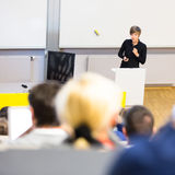 Lecture at university. Royalty Free Stock Image