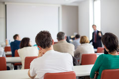 Lecture at university. Stock Image