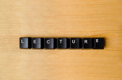 Lecture word Stock Photo