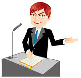 Lecturer. Illustration of the speaking man Royalty Free Stock Images