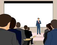 Lecturer holds a seminar Royalty Free Stock Image