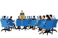 Lecturer at podium Stock Images