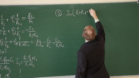 Lecturer at the university leads the lesson stock footage