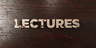 Lectures - grungy wooden headline on Maple  - 3D rendered royalty free stock image. This image can be used for an online website banner ad or a print postcard Royalty Free Stock Photos