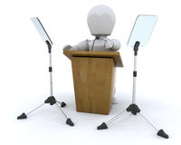Lecturn and teleprompter Royalty Free Stock Images