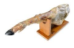 Lecząca iberian baleron noga, bellota baleron Wyśmienity hiszpański jedzenie obraz stock