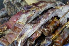 Leczący wieprzowina ziobro z kiełbasą zdjęcia stock
