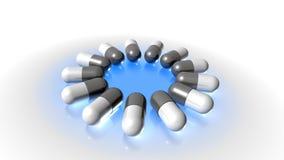 Lecznicze kapsuły, medicamento, capsulas Zdjęcie Royalty Free