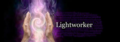 Lecznicze ręki samiec światła pracownika słowo chmurnieją fotografia royalty free