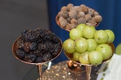 Leczniczy Triphala, kombinacja ayurvedic owoc zdjęcia stock