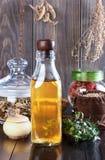 Leczniczy ziołowy tincture, alternatywna medycyna, miłość napoje miłośni, fotografia stock