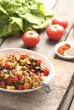 Leczo - dish with peppers and zucchini Royalty Free Stock Photography