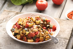 Leczo - dish with peppers and zucchini Stock Photo