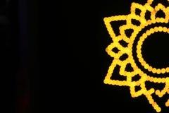 LED光向日葵  免版税图库摄影